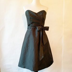 Alfred Sung Strapless Dress Black Knee Length 6